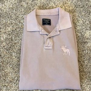 Abercrombie & Fitch Lavender Polo Shirt